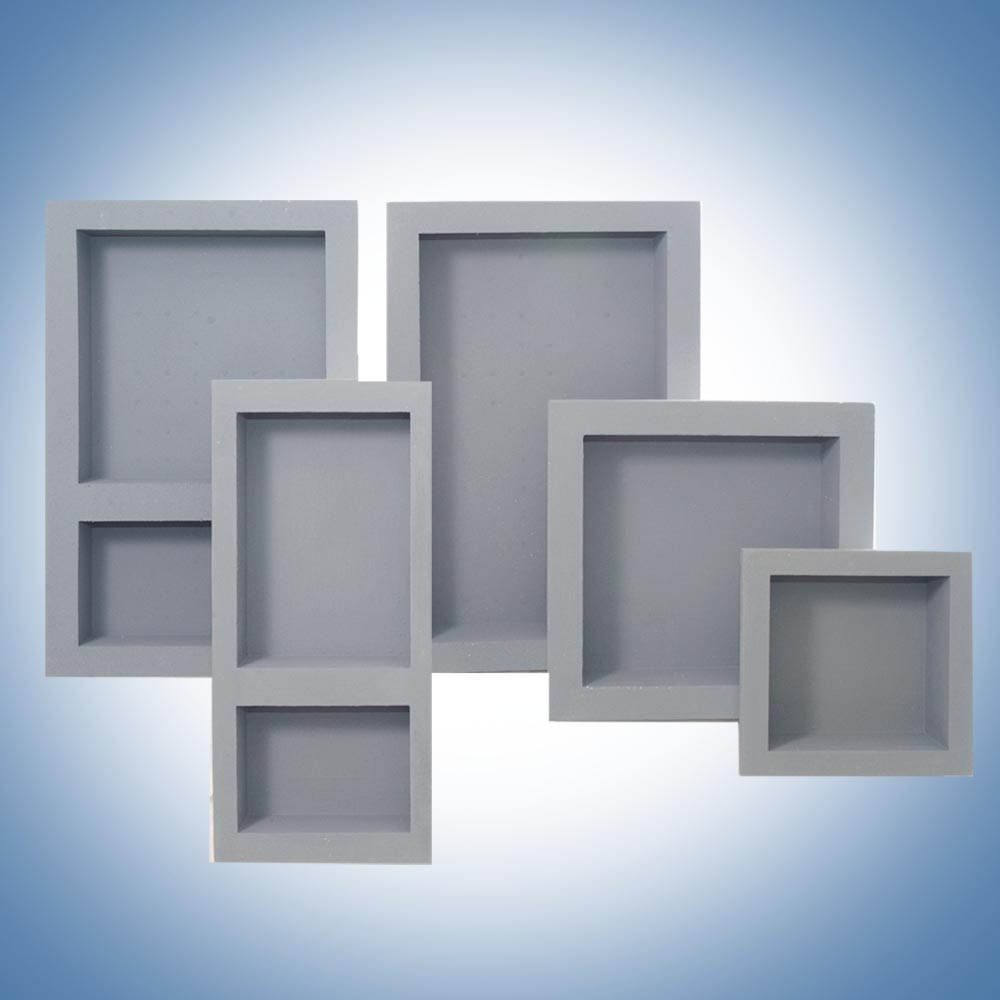 Large wall niche design for organizing picture frames and decorative item with a spot lighting - Wall niches ...